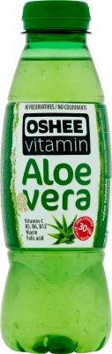 Oshee Aloe Vera napój niegazowany z sokiem winogronowym, sokiem jabłkowym, kawałkami Aloe Vera