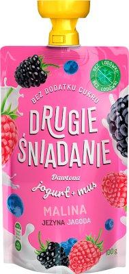 Dawtona Drugie Śniadanie mus  owocowy z jogurtem malina jeżyna jagoda