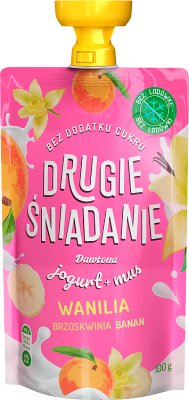 Dawtona Drugie Śniadanie mus owocowy z jogurtem wanilia brzoskwinia banan