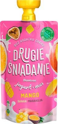Dawtona Drugie Śniadanie mus owocowy z jogurtem mango banan marakuja