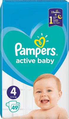 Pampers pieluchy active baby 4  9-14 kg