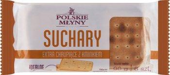 Polskie Młyny Suchary extra  chrupiące z kminkiem