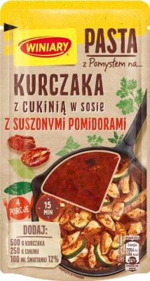 Winiary Pasta z Pomysłem na kurczaka z cukinią w sosie z suszonymi pomidorami