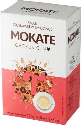 Mokate Cappuccino o smaku truskawki w śmietance