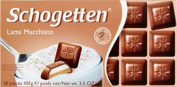 Schogetten Latte Macchiato  czekolada mleczna nadziewana kremem kakaowym  i kremem mlecznym