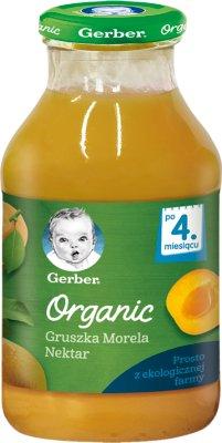 Gerber Organic nektar gruszka  morela