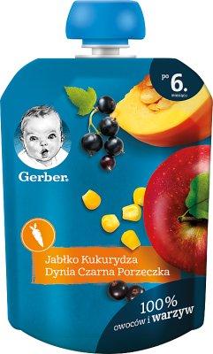 Gerber Deserek jabłko, kukurydza, dynia, czarna porzeczka