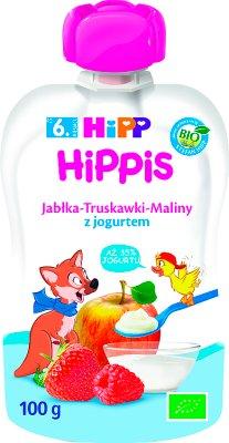 HiPPiS Jabłka-Truskawki-Maliny z jogurtem BIO
