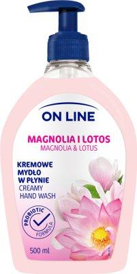 On Line Mydło kremowe w płynie  magnolia i lotos