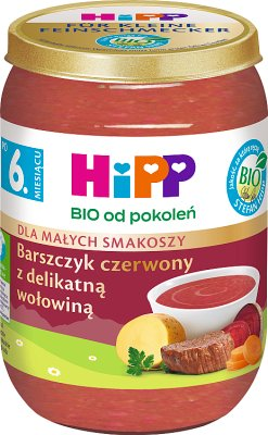 HiPP Barszczyk czerwony z delikatną wołowiną BIO
