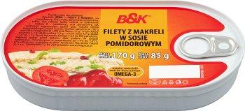 B&K Filety z makreli w sosie pomidorowym
