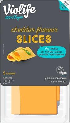 Violife Alternatywa Sera cheddar  w plastrach100% vegan, na bazie oleju kokosowego Bez Laktozy