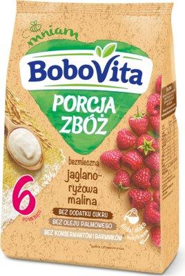 BoboVita Porcja Zbóż bezmleczna jaglano-ryżowo-malinowa