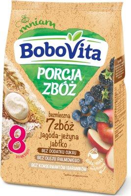 BoboVita Porcja Zbóż bezmleczna 7 zbóż jagodowo-jeżynowa