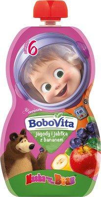 BoboVita mus w tubce Masha&Bear jagody i jabłka z bananem