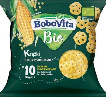 BoboVita BIO  krążki soczewicowe pysznie  kukurydziane