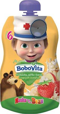 BoboVita mus Masha&Niedźwiedź truskawka jabłko i banan z napojem owsianym
