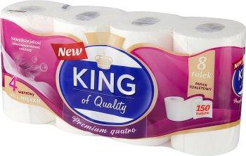 King of Quality Papier toaletowy 4 warstwy 150 listków