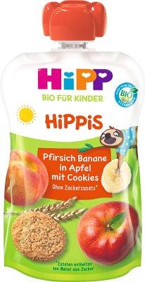 HiPP HiPPiS Jabłka-Brzoskwinie-Banany z ciasteczkami BIO