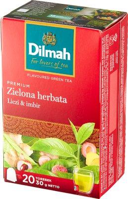 Dilmah Zielona herbata liczi & imbir