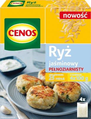 Cenos Ryż Jaśminowy Pełnoziarnisty 4x100g