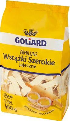 Makaron Goliard familijne Wstążki  Szerokie jajeczne