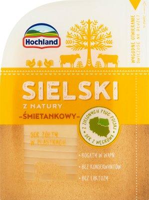 Hochland Sielski z natury śmietankowy ser żółty w plastrach
