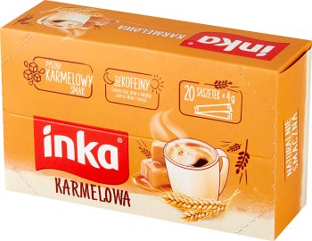 Inka Karmelowa w saszetkach Rozpuszczalna Kawa Zbożowa z Karmelem 20 saszetek