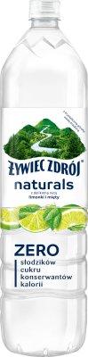 Żywiec Zdrój Naturals napój niegazowany o smaku limonki i mięty