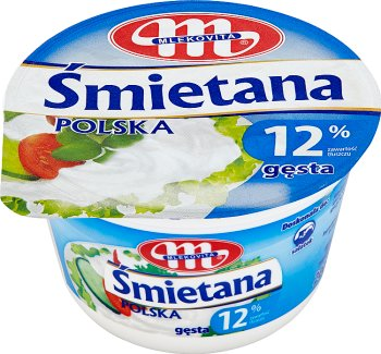 Mlekovita Śmietana Polska gęsta 12%