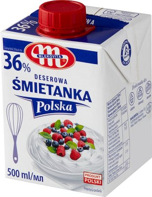 Mlekovita Deserowa Śmietanka Polska  UHT 36%tł.