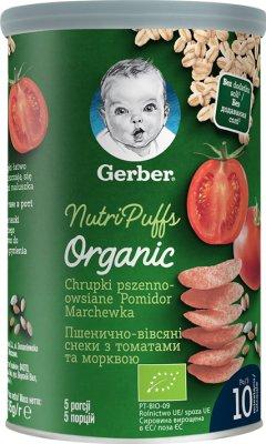 Gerber Organic Chrupki pszenno - owsiane Pomidor Marchewka