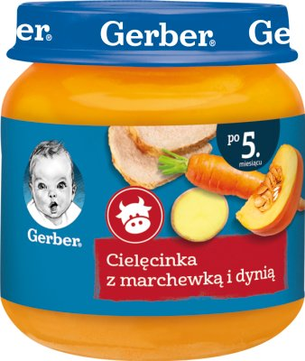 Gerber Cielęcinka z marchewką i dynią
