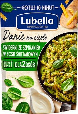 Lubella Danie na ciepło Świderki ze szpinakiem w sosie śmietanowym