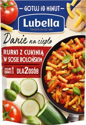 Lubella Danie na ciepło Rurki z cukinią w sosie bolońskim