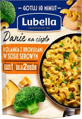 Lubella Danie na ciepło Kolanka z brokułami w sosie serowym