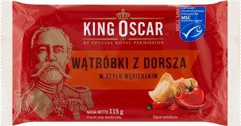 King Oscar Wątróbki z Dorsza w stylu Węgierskim