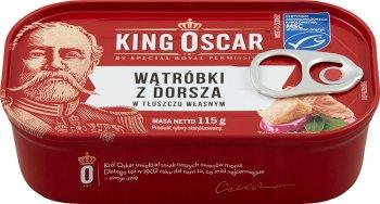 King Oscar Wątróbki z Dorsza w tłuszczu własnym