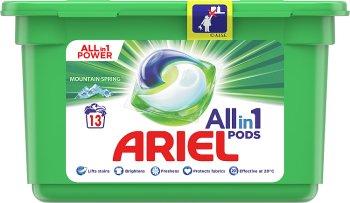 Ariel All i 1 Kapsułki do prania Mountain Spring Do Białych i jasnych tkanin