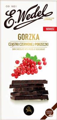 Wedel Czekolada Gorzka z cząstkami czerwonej porzeczki