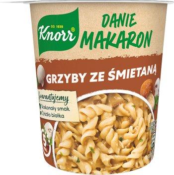 Knorr Danie makaron grzyby ze śmietaną